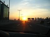 夕阳[中石油桥]