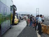 九江大桥遭遇堵车