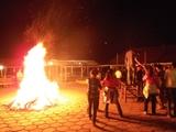 传奇山庄的篝火晚会
