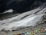 神瀑边的冰川