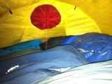 第一天账内-20度左右,我用一个睡袋就刚好,很暖和
