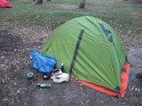 搭好帐篷,生火做饭(Set up the tent and cook)