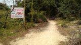 位于神B十字路口上的告示牌