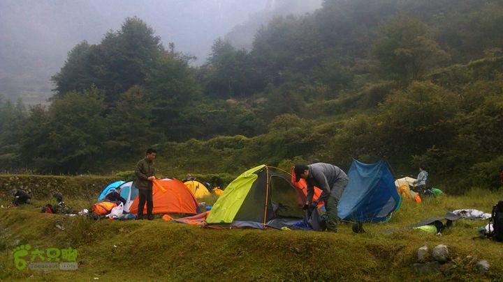楠溪江源头穿越2012国庆第一部分岩龙上涨超1000平方营地