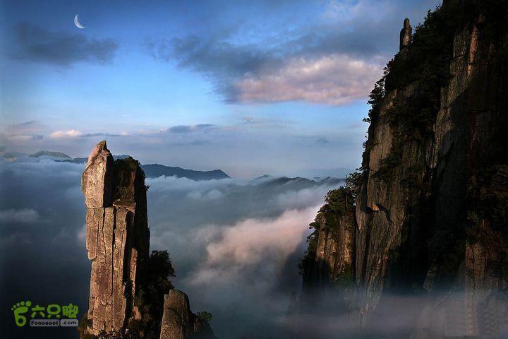 武功山明月山全线穿越(标注全)明月石笋峰