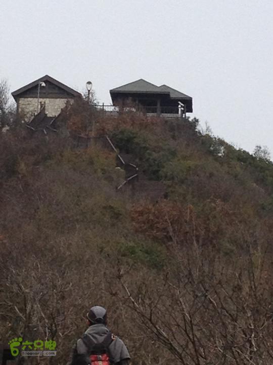 灵树线2013-02-02 14:21:55阳山公园的茶室,上着锁!