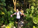 到达坪埔村。沿着村民安装的很长的镀锌水管走,可到达此出口,不易迷路。