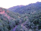 站在大坝上回看后河峡谷吗,夕阳西照
